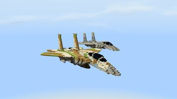 Mcdonnell Douglas F-15C Eagle (American and Israeli) Minecraft Map & Project
