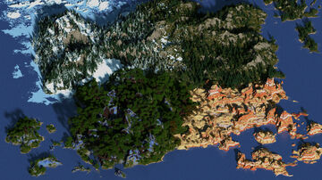 RPG / Survival World - 1500x1500 Minecraft Map & Project