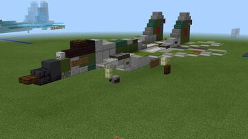 1.5:1 scale MiG-29SMT Fulcrum Minecraft Map & Project