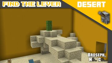 Find The Lever - Desert Minecraft Map & Project