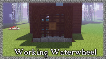 Moving Waterwheel Minecraft Map & Project