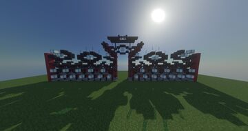 Red japanese gate Minecraft Map & Project