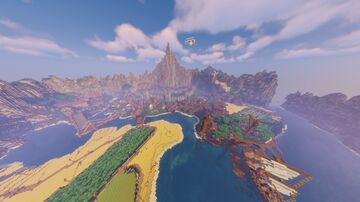 Valley Gorge Pit Kingdom Minecraft Map & Project