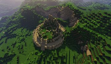 Ruined Scottish Iron Age Broch Tower Minecraft Map & Project