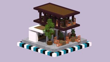Small Modern Bookstore Minecraft Map & Project