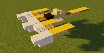 Star Wars Naboo N-1 Starfighter Minecraft Map & Project