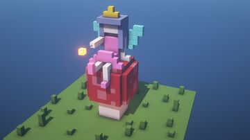 Fairy tale simplistic 3D pixelart Minecraft Map & Project
