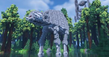 Endor with ATATs and TIE Fighters Minecraft Map & Project