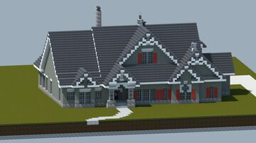 Ranch Style home #1 [With full interior and download] Minecraft Map & Project