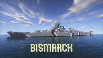 German Battleship Bismarck 1:1 Minecraft Map & Project