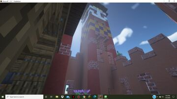 Medieval Castle and Custom Terrain Minecraft Map & Project
