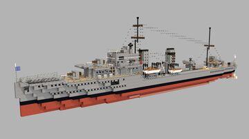 HMS Duchess - British Destroyer - 1:1 Minecraft Map & Project