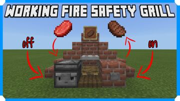 How To Build A Working Fire Safety Grill Minecraft Map & Project