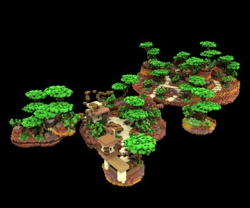Mesa Village Floating Spawn [300x200] Minecraft Map & Project