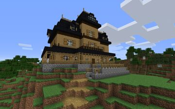 Haunted Victorian House Mansion Minecraft Map & Project