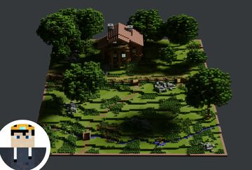 Gamekeeper's Cabin | Nature Walk Contest | Krysot Minecraft Map & Project