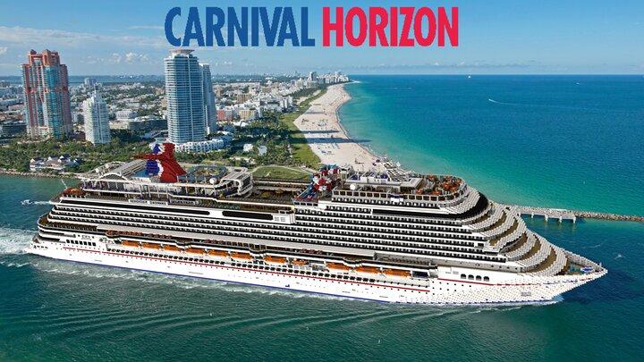 Carnival Horizon sailaway from Miami!