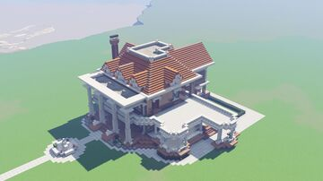Classical revival/neoclassical mansion Minecraft Map & Project
