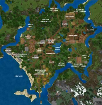 River Mouth Minecraft Map & Project