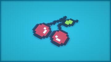 Cherry Pixel Art Minecraft Map & Project
