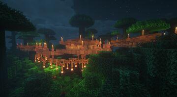Jungle Treehouse Village Minecraft Map & Project
