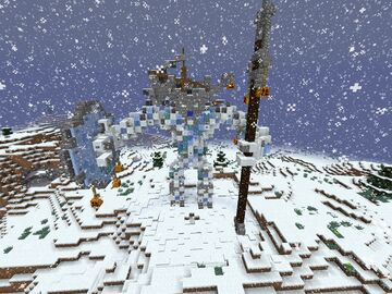 Yourm'Wyrm - ancient snow giant Minecraft Map & Project