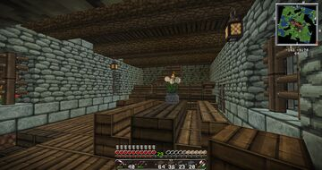 Living quarters castle staff Minecraft Map & Project