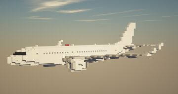 Airbus A320NEO 1.5:1 Scale Minecraft Map & Project