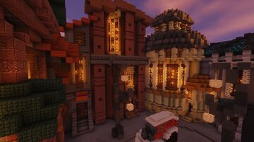 Patchwork street Minecraft Map & Project