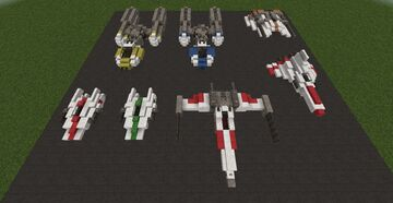 Start Wars Fighters and a BSG Viper Mark 2 #ConquestReforged Minecraft Map & Project