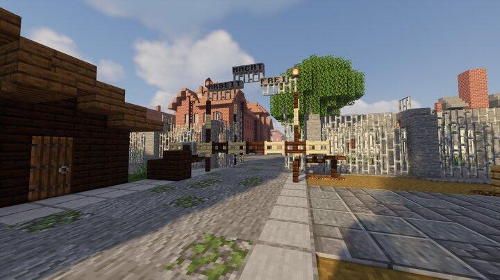 Auschwitz I famous entrance gate