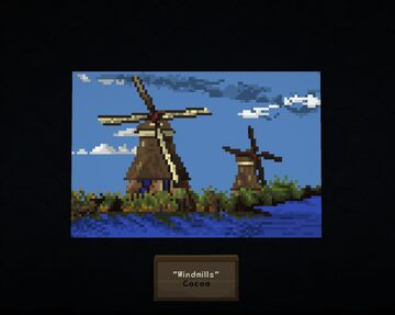 Windmills - Holland/Netherlands tribute - Map Art - ArtMap Minecraft Map & Project