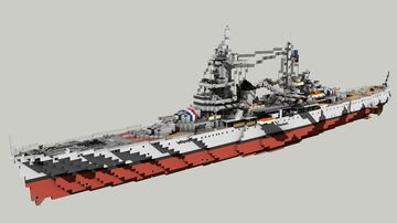 French Heavy Cruiser Algerie 1:1 Minecraft Map & Project
