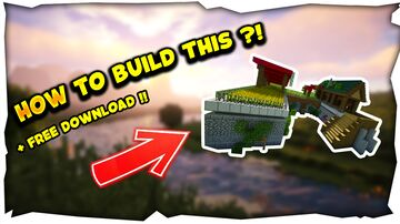 Minecraft Build : How to build compact Survival base ! + DOWNLOAD Minecraft Map & Project