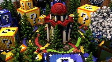 Lucky Block Themed Hub Map [⬇] Minecraft Map & Project