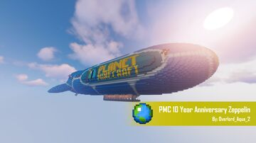 PMC 10 Year Anniversary Zeppelin Minecraft Map & Project