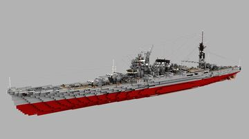 Fictional Japanese Heavy Cruiser Iwate 1:1 Minecraft Map & Project