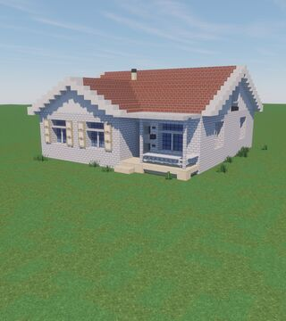 1950's American Style House Minecraft Map & Project