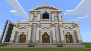 Freebuild Cathedral Minecraft Map & Project