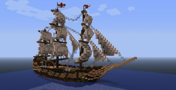 6th Rate Ship, 1700s Minecraft Map & Project