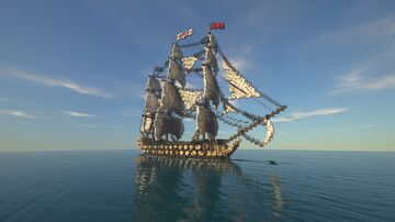 H.M.S Augusta - 18th century 3rd Rate Ship of the Line Minecraft Map & Project