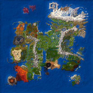 DREHMAL: PRIMΩRDIAL - 12k x 12k Survival/Adventure Map Minecraft Map & Project
