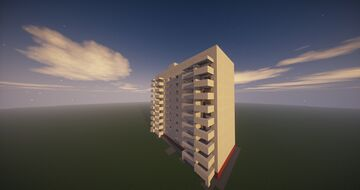 9 storey apartment 2/9 этажные апартаменты 2 Minecraft Map & Project