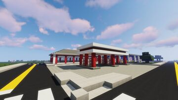 Gas station and Mechanic shop Minecraft Map & Project