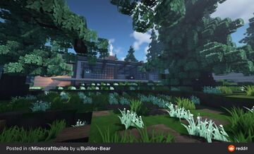 Modern Mountain Cabin Minecraft Map & Project