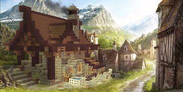 medieval blacksmiths shop - forge médiévale - mittelalterliche Schmiede Minecraft Map & Project