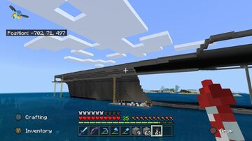 USS Enterprise 1:1 Scale + Carrier strike group 12 Minecraft Map & Project