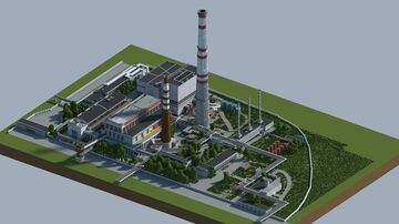 ZiL factory power plant Moscow / ТЭЦ ЗИЛ Москва Minecraft Map & Project