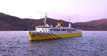 Hakkoda Maru - 1:1 scale JNR ship for train transport Minecraft Map & Project