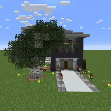 2x1 House Minecraft Map & Project